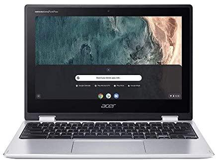 "2020 Acer Chromebook Spin 311 2-in-1 11.6"" HD Touchscreen Laptop Computer, Intel Celeron N4000, 4GB RAM, 64GB eMMC, Intel UHD Graphics 600, Wi-Fi, Bluetooth, USB-C, Chrome OS, Silver, 128GB USB Card 2"