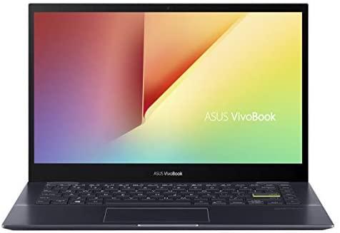 "ASUS VivoBook Flip 14 Thin and Light 2-in-1 Laptop, 14"" FHD Touch Display, AMD Ryzen 7 4700U, 8GB DDR4 RAM, 512GB SSD, Glossy, Stylus, Windows 10 Home, Fingerprint Reader, Bespoke Black, TM420IA-DB71T 2"