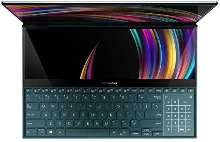 "ASUS ZenBook Pro Duo UX581 Laptop, 15.6"" 4K UHD NanoEdge Touch Display, Intel Core i7-10750H, 16GB RAM, 1TB PCIe SSD, GeForce RTX 2060, ScreenPad Plus, Windows 10 Pro, Celestial Blue, UX581LV-XS74T 4"