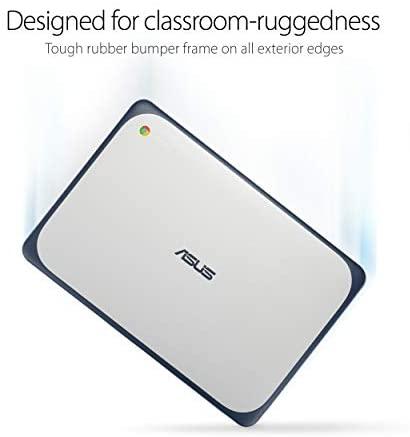 "ASUS Chromebook-Laptop- 11.6"" Ruggedized and Spill Resistant Design-with 180 Degree-Hinge, Intel N3060 Celeron 4GB DDR3, 32GB eMMC, Chrome OS- C202SA-YS04 Dark Blue 4"