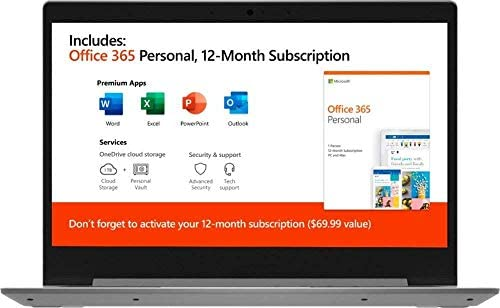 "2020 Lenovo IdeaPad Laptop ComputerAMD A6-9220e 1.6GHz 4GB Memory 64GB eMMC Flash Memory 14"" AMD Radeon R4 AC WiFi Microsoft Office 365 Platinum Gray Windows 10 Home 4"