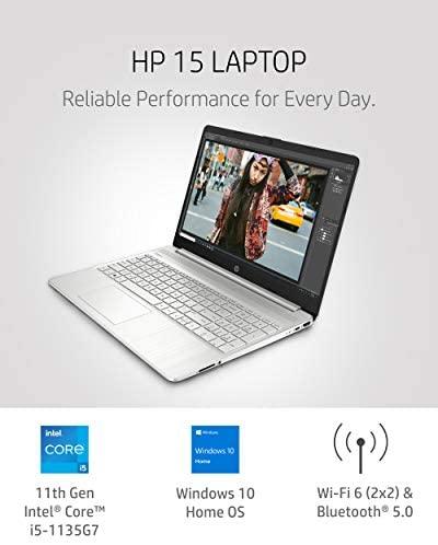 "HP 15 Laptop, 11th Gen Intel Core i5-1135G7 Processor, 8 GB RAM, 256 GB SSD Storage, 15.6"" Full HD IPS Display, Windows 10 Home, HP Fast Charge, Lightweight Design (15-dy2021nr, 2020) 2"
