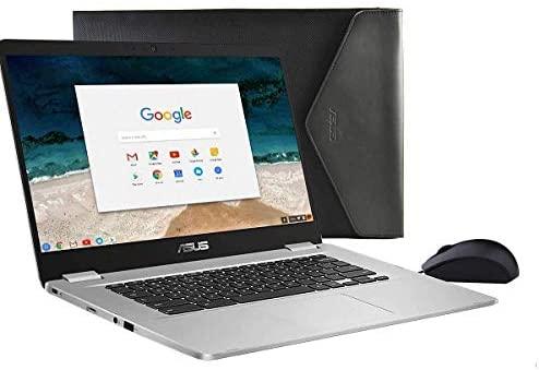"Asus C423NA Chromebook 14"" HD Laptop (Intel Dual Core Celeron Processor N3350, 4GB DDR4 RAM, 64GB SSD) Webcam, WiFi, Bluetooth, Type-C, Google Chrome OS - Silver (Renewed) 4"