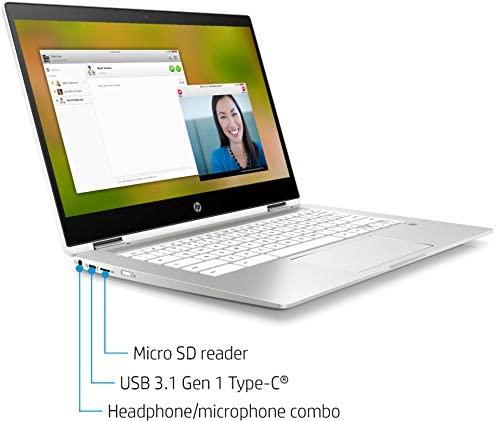 "2021 HP X360 2 in 1 Laptop computer 14"" Contact-Display HD Chromebook, Intel Celeron N4000, 4GB Reminiscence, 32GB eMMC Storage, USB Sort C, WiFi, Webcam, Chrome OS, Ceramic White + 32GB TiTac Card 5"