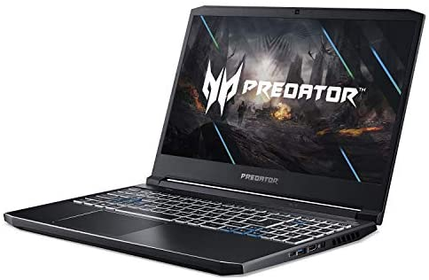 "Acer Predator Helios 300 Gaming Laptop, Intel i7-10750H, NVIDIA GeForce RTX 2060 6GB, 15.6"" Full HD 144Hz 3ms IPS Display, 16GB Dual-Channel DDR4, 512GB NVMe SSD, Wi-Fi 6, RGB Keyboard, PH315-53-72XD 13"