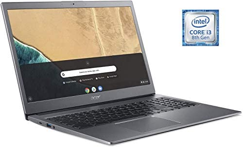 "Acer Chromebook 715, Intel Core i3-8130U, 15.6"" Full-HD 1080p Screen, 4GB DDR4, 128GB eMMC - CB715-1W-35ZK, Steel Gray 2"