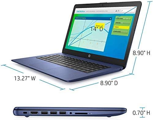 Newest HP Stream 14inch HD(1366x768) Intel Celeron N4000 Dual-Core, 4GB RAM, 64GB eMMC, HDMI, WiFi, Webcam, Bluetooth, Win10 S, Blue (Renewed) 5