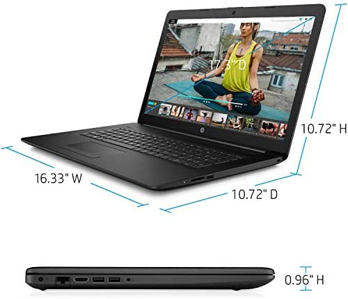 "2021 Newest HP Premium Business Laptop, 17.3"" HD+ Display, AMD Ryzen 5 4500U 6-Core Processor Up to 4.0 GHz (Beats i7-10510U), 16GB RAM, 1TB SSD, DVD-RW, Webcam, HDMI, Black, Win 10 + Oydisen Cloth 8"
