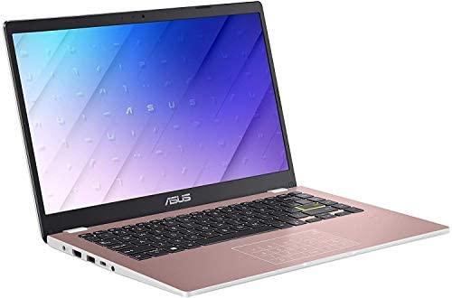 "2021 Newest ASUS E410 14"" Thin and Light Laptop Computer, Intel Celeron N4020 (up to 2.8GHz), 4GB DDR4 RAM, 128GB eMMC, WiFi, Bluetooth, HDMI, Webcam, Remote Work, Pink, Windows 10 S+AllyFlex MP 2"