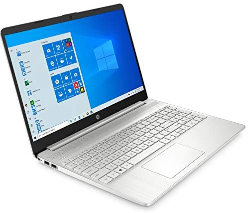 """2021 HP 15 15.6"""" FHD Touchscreen Business Laptop Computer_ Intel Quard-Core i7 1065G7 up to 3.9GHz_ 12GB DDR4 RAM_ 256GB PCIe SSD_ Type-C_ Remote Work_ Silver_ Windows 10 Pro_ BROAGE 64GB Flash Stylus 4"""