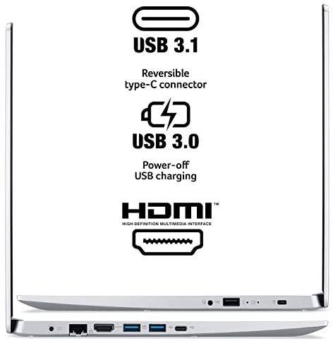 "Acer Aspire 5 A515-55-378V, 15.6"" Full HD Display, 10th Gen Intel Core i3-1005G1 Processor (Up to 3.4GHz), 4GB DDR4, 128GB NVMe SSD, WiFi 6, HD Webcam, Backlit Keyboard, Windows 10 in S Mode 5"