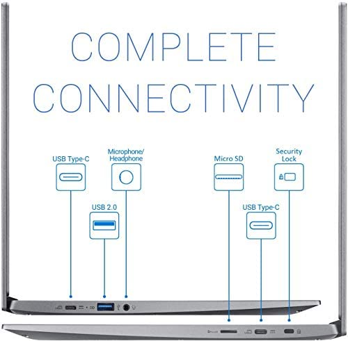 "Acer Chromebook 715, Intel Core i3-8130U, 15.6"" Full-HD 1080p Screen, 4GB DDR4, 128GB eMMC - CB715-1W-35ZK, Steel Gray 5"