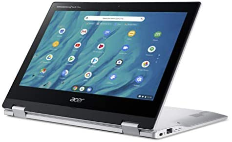 """Acer Convertible Chromebook Spin 311, 11.6"""" HD IPS Touch, MediaTek MT8183 Processor, 4GB RAM, 32GB eMMC, Chrome OS, Silver, CP311-3H-K4S1 4"""
