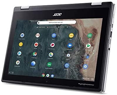 "2020 Acer Chromebook Spin 311 2-in-1 11.6"" HD Touchscreen Laptop Computer, Intel Celeron N4020 CPU, 4GB RAM, 64GB eMMC, Intel UHD Graphics, HD Webcam, Wi-Fi, Chrome OS, Silver, 32GB SnowBell USB Card 3"