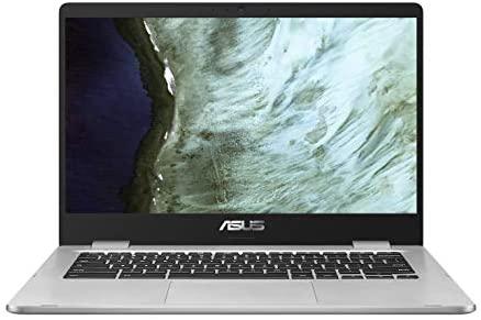 "Asus Chromebook C423NA, 14"" HD Nano-Edge Display, Intel Processor N3350, 4GB DDR4, 64GB eMMC, Chrome OS 4"