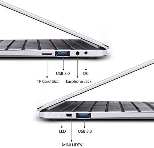 "2019 14"" Laptop - Intel Quad-Core Atom x5 E8000 Processor - 4GB Memory - 64GB Solid State Drive -2PCS 4500mAh Large Capacity Battery Endurance- Ash Silver Keyboard Frame 3"