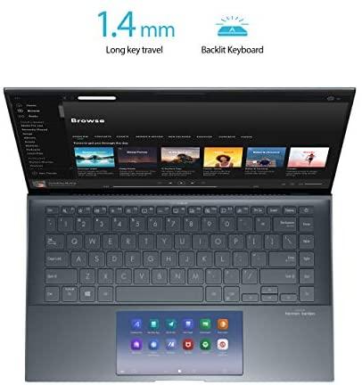 "ASUS ZenBook 14 Ultra-Slim Laptop 14"" FHD NanoEdge Bezel Display, Intel Core i7-1165G7, NVIDIA MX450, 16GB RAM, 512GB SSD, ScreenPad 2.0, Thunderbolt 4, Windows 10 Pro, Pine Grey, UX435EG-XH74 12"