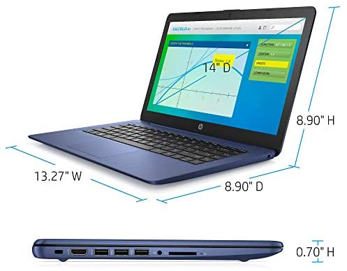 HP Stream Laptop Intel N4000 4GB 64GB eMMC 14-Inch WLED Win 10 S with Office 365 1-Year 4