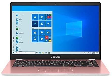"2021 ASUS 14"" HD Display Laptop Computer, Intel Celeron N4020 Processor, 4GB DDR4 RAM, 128GB eMMC, Stereo Speakers, Intel UHD Graphics, USB-C, HDMI, Windows 10 Home, Pink, 32GB SnowBell USB Card 2"