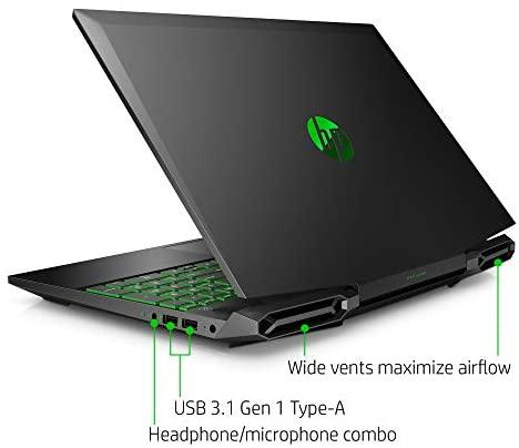 HP Pavilion Gaming 15-Inch Micro-EDGE Laptop, Intel Core i5-9300H Processor, NVIDIA GeForce GTX 1650 (4 GB), 8 GB SDRAM, 256 GB SSD, Windows 10 Home (15-dk0020nr, Shadow Black/Acid Green) 5
