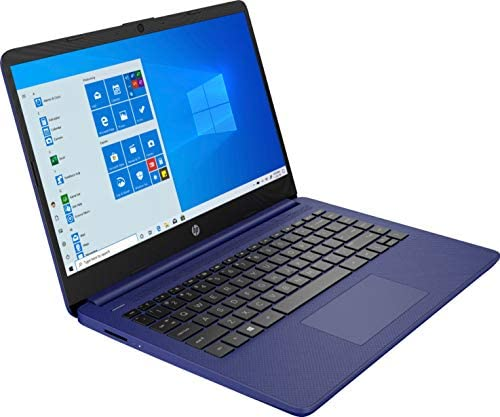 2020 HP 14 inch HD Laptop, Intel Celeron N4020 up to 2.8 GHz, 4GB DDR4, 64GB eMMC Storage, WiFi 5, WebCam, HDMI, Windows 10 S /Legendary Accessories (Google Classroom or Zoom Compatible) (Indigo Blue) 3