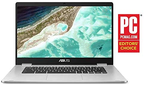 "Asus C423NA Chromebook 14"" HD Laptop (Intel Dual Core Celeron Processor N3350, 4GB DDR4 RAM, 64GB SSD) Webcam, WiFi, Bluetooth, Type-C, Google Chrome OS - Silver (Renewed) 5"