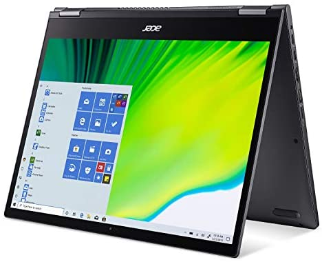 """Acer Spin 5 Convertible Laptop, 13.5"""" 2K 2256 x 1504 IPS Touch, 10th Gen Intel Core i7-1065G7, 16GB LPDDR4X, 512GB NVMe SSD, Wi-Fi 6, Backlit KB, FPR, Rechargeable Active Stylus, SP513-54N-74V2 11"""