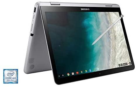 2021 Samsung Chromebook Plus V2 12.2 Inch FHD 1200P Touchscreen 2-in-1 Laptop, Intel Core m3-7Y30, 4GB RAM, 64GB eMMC, WiFi, Webcam, Chrome OS + NexiGo 32GB MicroSD Card Bundle, Pen Included 4