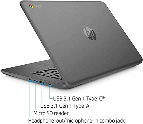 2021 HP Chromebook 14-inch Touchscreen Laptop Computer, Intel Celeron N3350, 4 GB RAM, 160GB Space(32 GB eMMC+128GB MicroSD), Chrome OS, WiFi, Webcam, USB Type-C, Bluetooth, 10 Hrs Battery+AlleFlex MP 9