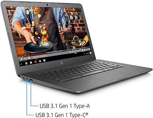 2021 HP Chromebook 14-inch Touchscreen Laptop Computer, Intel Celeron N3350, 4 GB RAM, 160GB Space(32 GB eMMC+128GB MicroSD), Chrome OS, WiFi, Webcam, USB Type-C, Bluetooth, 10 Hrs Battery+AlleFlex MP 7