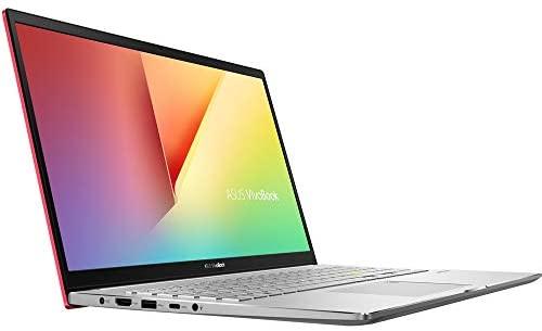 "ASUS VivoBook S15 Thin and Light Laptop, 15.6"" Full HD Screen, Intel Core i5-10210U Processor, 8GB RAM, 512GB SSD, Webcam, WiFi-6, Backlit KB, Fingerprint Reader, Win 10 Home, Red, KKE Stickers Bundle 4"