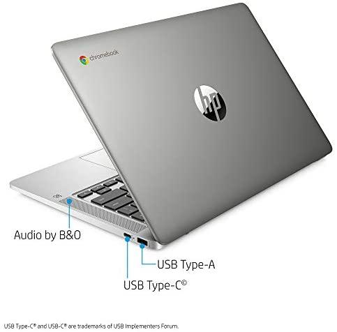 HP Chromebook 14-inch HD Laptop, Intel Celeron N4000, 4 GB RAM, 32 GB eMMC, Chrome (14a-na0010nr, Mineral Silver) 3