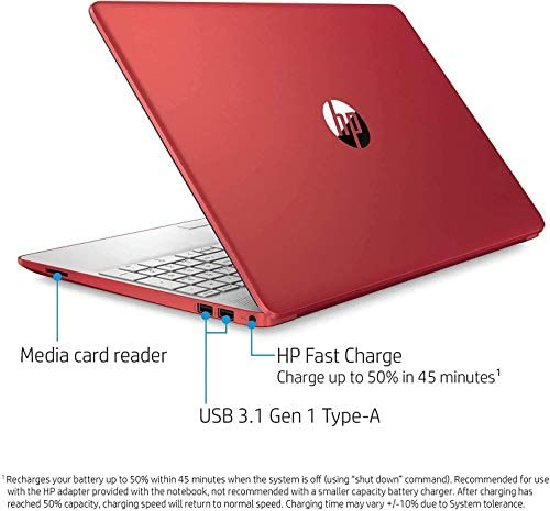 """HP 15.6"""" HD Micro-Edge Laptop, Intel Pentium Gold 6405U up to 2.40 GHz, 16GB RAM, 256GB SSD+1TB HDD, Webcam, USB Type-C, Ethernet, HDMI, Mytrix HDMI Cable, Win 10 3"""