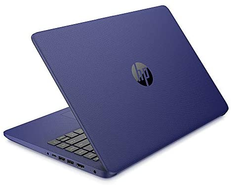 2021 HP 14 inch Laptop, AMD 3020e Processor, 4 GB RAM, 64 GB eMMC Storage, WiFi 5, Webcam, HDMI, Windows 10 S with Office 365 for 1 Year + Fairywren Card (Blue) 2