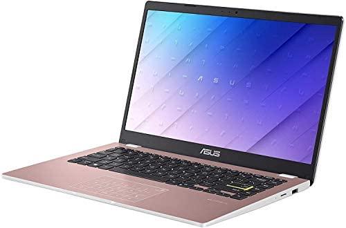 "2021 Newest ASUS E410 14"" Thin and Light Laptop Computer, Intel Celeron N4020 (up to 2.8GHz), 4GB DDR4 RAM, 128GB eMMC, WiFi, Bluetooth, HDMI, Webcam, Remote Work, Pink, Windows 10 S+AllyFlex MP 3"