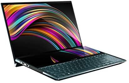 "ASUS ZenBook Pro Duo UX581 Laptop, 15.6"" 4K UHD NanoEdge Touch Display, Intel Core i7-10750H, 16GB RAM, 1TB PCIe SSD, GeForce RTX 2060, ScreenPad Plus, Windows 10 Pro, Celestial Blue, UX581LV-XS74T 2"