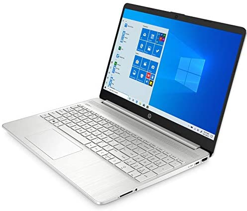 """2021 HP 15 15.6"""" FHD Touchscreen Business Laptop Computer_ Intel Quard-Core i7 1065G7 up to 3.9GHz_ 12GB DDR4 RAM_ 256GB PCIe SSD_ Type-C_ Remote Work_ Silver_ Windows 10 Pro_ BROAGE 64GB Flash Stylus 5"""
