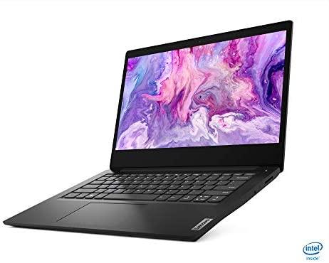 """2021 Newest Lenovo Ideapad 3 Premium Laptop, 14"""" HD Display, Intel Pentium Gold 6405U 2.4 GHz, 8GB DDR4 RAM, 128GB NVMe M.2 SSD, Bluetooth 5.0, Webcam, WiFi, HDMI, Windows 10 S, Black + Oydisen Cloth 3"""