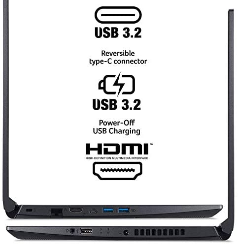 "Acer Aspire 7 Laptop, 15.6"" Full HD IPS Display, AMD Ryzen 5 3550H, NVIDIA GeForce GTX 1650, 8GB DDR4, 512GB NVMe SSD, Backlit Keyboard, Windows 10 Home, A715-41G-R7X4 5"