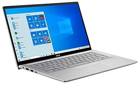 "2021 ASUS 14"" FHD Touchscreen Laptop Computer, AMD Ryzen 5-3500U CPU, 8GB RAM, 256GB SSD, Backlit Keyboard, HD Webcam, HD Audio, AMD Radeon Vega 8 Graphics, Win 10, Silver, 32GB SnowBell USB Card 3"
