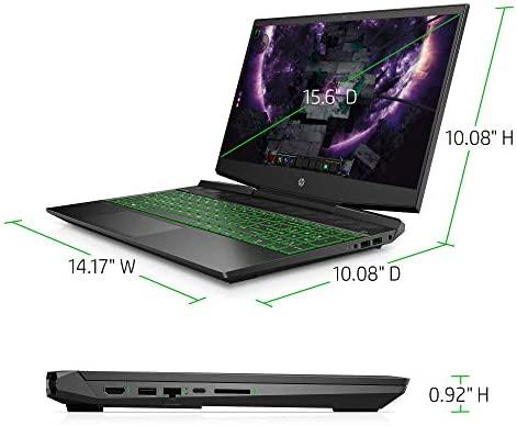 HP Pavilion Gaming 15-Inch Micro-Edge Laptop, Intel Core i5-9300H Processor, NVIDIA GeForce GTX 1650 (4 GB), 8 GB SDRAM, 256 GB SSD, Windows 10 Home (Shadow Black/Acid Green) 6