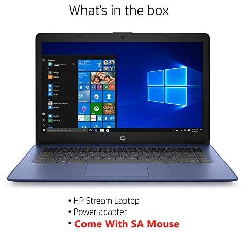 Newest HP Stream 14inch HD(1366x768) Intel Celeron N4000 Dual-Core, 4GB RAM, 64GB eMMC, HDMI, WiFi, Webcam, Bluetooth, Win10 S, Blue (Renewed) 2