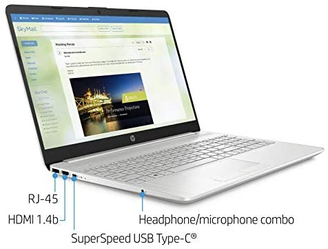 "2021 HP Flagship 15.6"" HD Laptop Computer, AMD Ryzen 3 3250U up to 3.5GHz (Beat Intel i5-7200U), 8GB RAM, 128GB SSD+1TB HDD, HD Webcam, Remote Work,WiFi, Bluetooth 4.2, HDMI, Win10 S, w/Marxsol Cables 2"