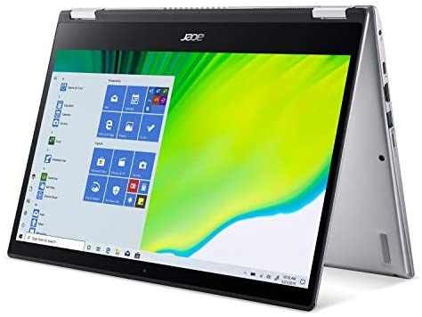 """Acer Spin 3 Convertible Laptop, 14"""" Full HD IPS Touch, 10th Gen Intel Core i5-1035G4, 8GB LPDDR4, 512GB NVMe SSD, WiFi 6, Backlit KB, Fingerprint Reader, Rechargeable Active Stylus, SP314-54N-50W3 12"""