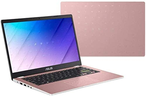 """2021 Newest ASUS 14"""" Thin Light Student Laptop, Intel Celeron N4020 (up to 2.8GHz), 4GB DDR4 RAM, 128GB eMMC, 12Hours Battery Life, Webcam, Zoom Meeting, Win10, Pink w/GM Accessories 5"""