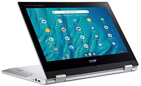"2021 Newest Acer Chromebook Spin 311 Convertible Laptop, MediaTek 8-Core Processor, 11.6"" HD Touch, 4GB LPDDR4, 32GB eMMC, Gigabit Wi-Fi 5, Bluetooth 5.0, Google Chrome, Silver + Oydisen Cloth 3"