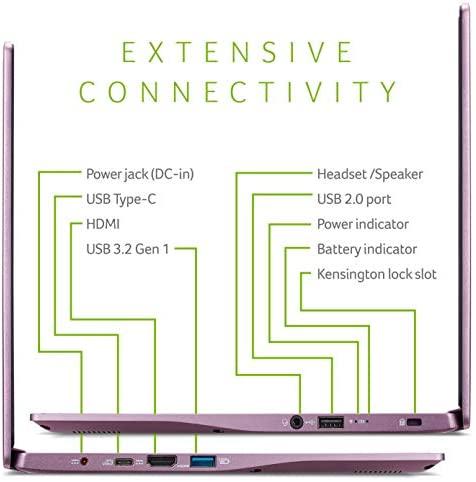"Acer Swift 3 Thin & Light Laptop, 14"" Full HD IPS, AMD Ryzen 7 4700U Octa-Core Processor with Radeon Graphics, 16GB LPDDR4X, 512GB NVMe SSD, WiFi 6, Backlit KB, Fingerprint Reader, SF314-42-R3U5 7"