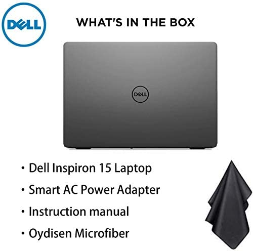 "Dell Inspiron 15 3000 Laptop, 15.6"" HD Display, Intel N4205U Dual-Core Processor, 8GB RAM, 128GB PCIe SSD, Webcam, HDMI, Bluetooth, Wi-Fi, Black, Windows 10 7"