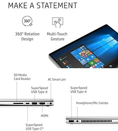 "HP Pavilion x360 14 2-in-1 Laptop, 10th Generation Intel Core i5-10210U Processor, 8 GB Ram, 512 GB SSD Storage, 14"" Full HD Touch Screen, Windows 10 Home, Backlit Keyboard (14-dh1021nr, 2020) 6"