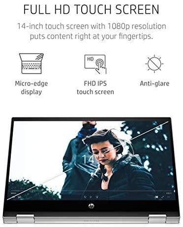 "HP Pavilion x360 14 2-in-1 Laptop, 10th Generation Intel Core i5-10210U Processor, 8 GB Ram, 512 GB SSD Storage, 14"" Full HD Touch Screen, Windows 10 Home, Backlit Keyboard (14-dh1021nr, 2020) 4"
